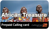 African Treasure phone cards & African Treasure calling cards