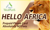 Hello Africa phone cards & Hello Africa calling cards