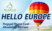 Hello Europe phone cards & Hello Europe calling cards