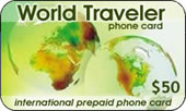 MCI World Traveler Calling Card